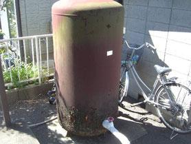井戸タンク 塗装前