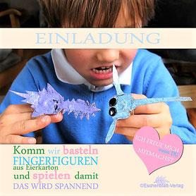 Fingerfiguren mit Kindern aus Eierkartons basteln