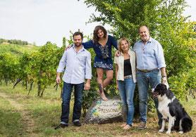 Arturo Stochetti met echtgenote, dochter Giulia en neef Nicola