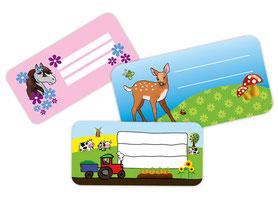 Heftaufkleber für Kinder zum selbstbeschriften
