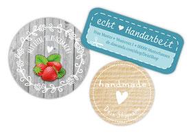 Etiketten für deine Handmadeprojekte, Marmeladenetiketten