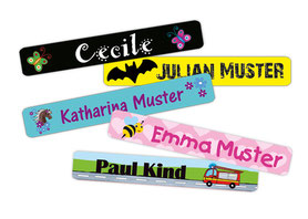 Namensaufkleber für Stifte, viele verschiedene Motive
