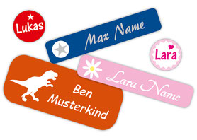 verschiedene Motive Bügeletiketten u. Textilaufkleber für Kinder