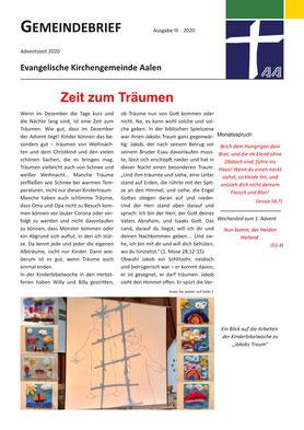 Gemeindebrief Aalen 2020-12