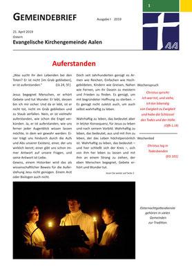 Gemeindebrief Aalen 2019-04