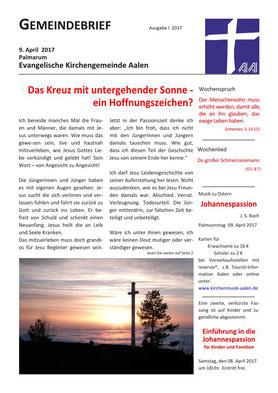 Gemeindebrief Aalen 2017-03