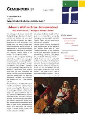 Gemeindebrief Aalen 2018-12