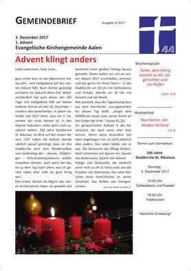 Gemeindebrief Aalen 2017-12