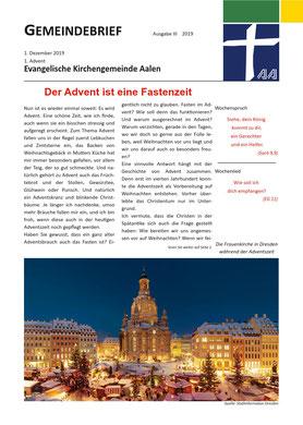 Gemeindebrief Aalen 2019-12