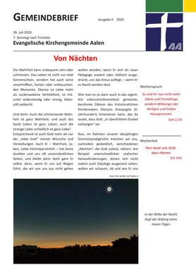 Gemeindebrief Aalen 2020-07