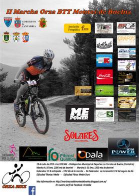 II MARCHA ORZA BTT MONTES DE BUELNA - Corrales de Buelna (Cantabria), 19-07-2015