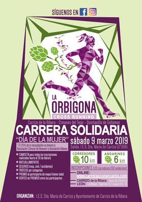 """CARRERA SOLIDARIA """"LA ORBIGONA"""" - Carrizo de la Ribera, 09-03-2019"""