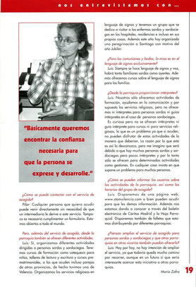 la voluntaria Pilar Mahugo