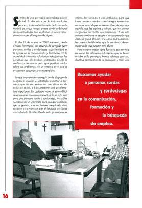El diácono Luis Gonzalo y la voluntaria Pilar Mahugo