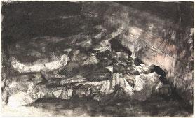 """18.3.1921"", Tusche und Aquarell, 29 × 48 cm, 2018"