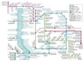 バンコク電車路線図,バンコク物件.com