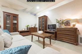 Einrichtungsstil, Wohnen, Schöner Wohnen, Wohlstil,  Klassischer Stil, dunkles Holz, Wohnzimmer