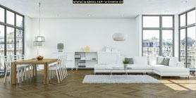 Einrichtungsstil, Wohnstil, Wohnen, Einrichten, Wohnideen, Wohntrends, Minimalismus, Purismus, minimalistisch Wohnen, minimalistische Möbel, puristische Einrichtung, Loft-Stil, hohe Fenster, wenig Deko