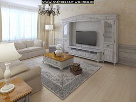 Einrichtungsstil, Wohnstil, Wohnen, Einrichten, Wohnideen, Wohntrends, Französisches Wohnzimmer, Shabby Chic, Provence-Stil, French Country, Selber machen, Wohnzimmer