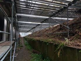 Bad Oeynhausen Plateaugerüst als Lagerfläche vor dem Fassadengerüst