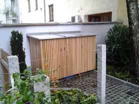 Jergens Garten- und Landschaftsbau. Mülltonnenhäuschen