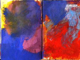 Skizzenbuchseiten, Farbstudien