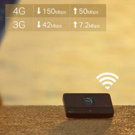 vitesse 3G vs 4G - Infographie de TP-Link ( M7350 )