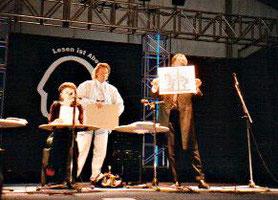 """Frankfurter Buchmesse 1984, Lesung """"Eros unterm Doppeladler"""" ( mit Alexander Reden und Christine Saginth)"""