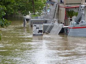crue de la seine paris bateaux