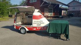 Ausschankwagen mit Kühltheke