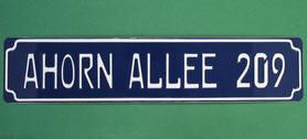 Straßennamen mit Hausnummer