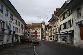 historisches Städtli, Holzbrücke Wangen an der Aare, SVP Wangen an der Aare und UmgebungHolzbrücke Wangen an der Aare, SVP Wangen an der Aare und Umgebung