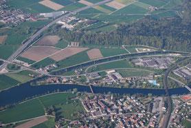 Luftaufnahme, SVP Wangen an der Aare und Umgebung