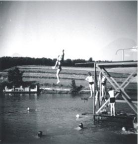 Der erste Sprungturm anno 1935