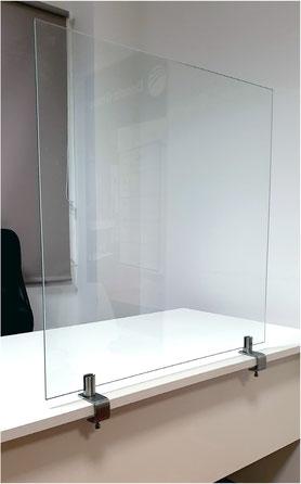 Pantalla de protección de cristal regulable COVID19