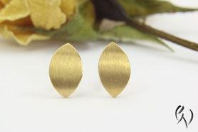 Ohrstecker Gold, Navette