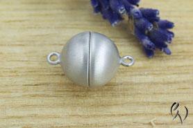 Perlschließe, Magnetschließe, Silber