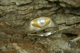 Ring Silber mit Perle