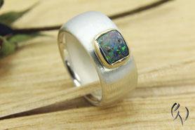 Ringe Silber mit Opal, Handarbeit
