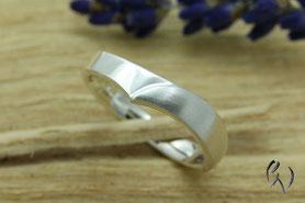 Ringe Silber, Irisblatt, Handarbeit
