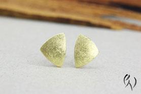 Ohrstecker Gold, kleine Dreiecke