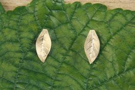 Ohrstecker Gold, Herbstblätter