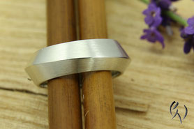 Ring Silber, Dreikantprofil
