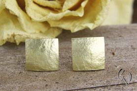 Ohrstecker Gold, Quadrat