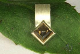 Anhänger Silber mit quadratischen Turmalin-Cabochon