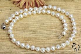 Akoya-Perlenkette mit Weißgold-Verschluß