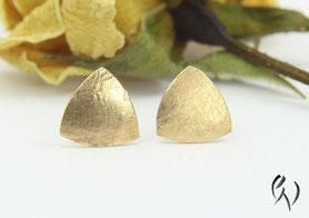 Ohrstecker Gold, Dreieck
