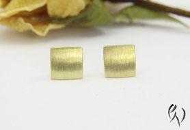 Ohrstecker Gold, Miniquadrat