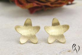 Ohrstecker Gold, Gänseblümchen