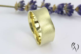 Ring Gold, mattiert, Handarbeit